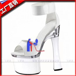 Wholesale Made Dress Sandals - 7 inch platform Hand Made High Heel Shoes ankle back strap women sandals 18cm dress shoes Beautiful wedding shoes