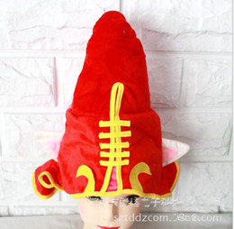 Wholesale Wholesale Plush League Legends - Halloween LOL Hats League of Legends Fairy Witch Lulu Cosplay Hat Plush Cap Red Cosplay Hat Performance Props Accessories for Kids Boy Gift