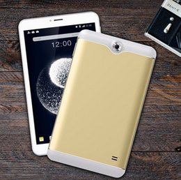 Wholesale Tablet 7inch Quad Core Phone - New 7inch quad core 3g phablet phone iPS 1280x800 GPS bluetooth WIFI dual camera dual SIM card TF card android 1G 8GB Calling tablet pc