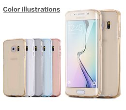 Wholesale S3 Clear Silicon - For SamSung S3 S4 S5 Soft Protection TPU Case Protect Camera Cover Crystal Clear Transparent Silicon Thin Shell For SamSung S6 S6edge