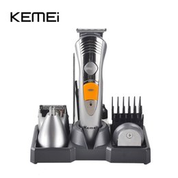 Wholesale Plug Ue - KM-580A 7 In 1 Hair Clipper Trimmer Razor Shaver Rechargeable Electric Hair Cutting Machine Hair Care Styling Tools UE Plug 0604070