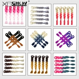 Wholesale Xpression Braiding Hair - Kanekalon synthetic Braiding hair 24inch 100g Ombre Two Tone color Xpression jumbo braids Hair Extensions 43 colors Optional For Black Women