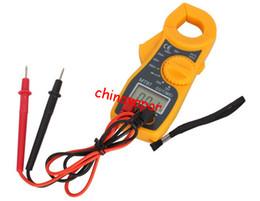 Wholesale Dc Meter Digit - 5pcs free shipping 3 1 2 Digits LCD Digital Clamp Multimeter Meter AC DC Voltmeter AC Ammeter Ohmmeter Volt Ampere Electric Voltage Tester