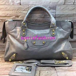 Wholesale Italy Brand Bag - 2016 Fashion Brand women bag ITALY Genuine leather ladies handbags Luxury rivet shoulder crossbody women bags