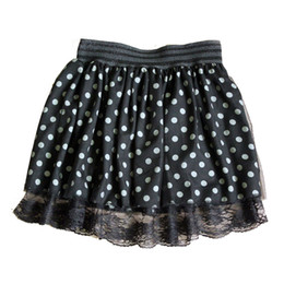 Wholesale 28 Gowns - Women Polka Dot Dual Layer Lace Chiffon Mini Pleated Short Skater Skirt