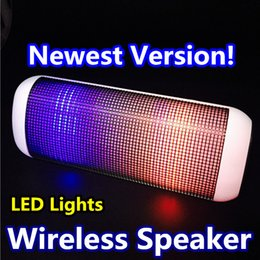 2019 ipad handfree Mini Bluetooth musique sans fil haut-parleur portable avec streaming lumières colorées LED avec fente pour carte TF pour iPhone 6 SE voiture téléphone MP3 tablette