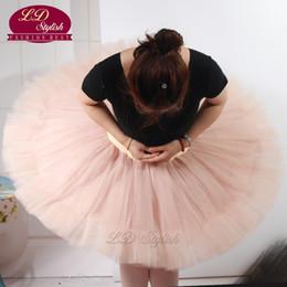 Wholesale Children Ballet Dance - Adult Pancake Ballet Tutu Skirts Practice Tutu Skirt Half Tutus For Children LD0002S Adult Half Tutu Pink