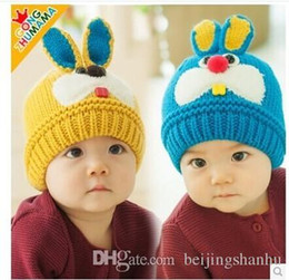 Wholesale Kids Ties For Sale - 2015 hot sale Baby Winter Hat Set Warmer cute Rabbit Cap for Boys Girls Kids Children thick velvet warm snow cap