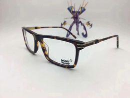 Wholesale Lighting Eyeglasses - MB8032 Italian Brand Designer Designed Eyeglasses Frame Glasses Frame Male Matching Finished Flat Light Myopic Glasses Frame
