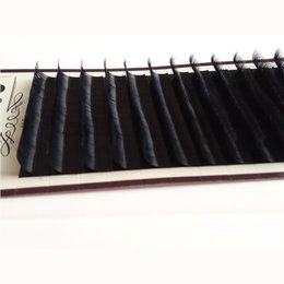 Wholesale Eyelash Extension Single - B curl Eyelash Extensions 0.07mm 10mm Volume Black Ellipse Flat Individual Single Lashes Extension Salon Perfect Use