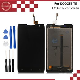 Wholesale Mobile Lcd Touch Screen - Wholesale- DOOGEE T5 LCD Display and Touch Screen Digitizer Assembly Repair Part 5.0 inch Mobile Accessories For DOOGEE T5 Lite+Tools