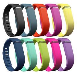 Fasce di sostituzione flex flexibilità nera online-New Fitbit Flex Band Large Small Nero con cinturino di ricambio in gomma TPU Wristband Braccialetti di attività wireless Wristband con fermagli metallici