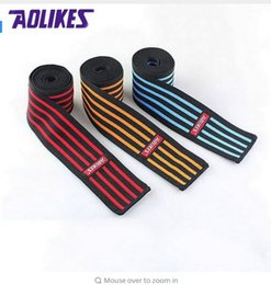 Wholesale Leg Compression Wrap - AOLIKES 1 Pcs lot 180*7.5 CM Weight Lifting Elastic Knee Bandages Leg Compression Calf Support Wraps Sports Squats Training