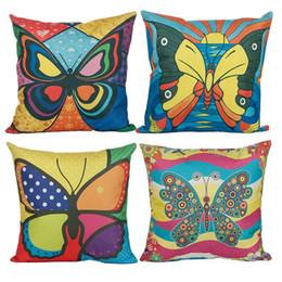 Узор подушки бабочки онлайн-Новый стиль завод животных Pattern наволочки бабочка дизайн наволочки бабочка наволочка Home Decor бабочка наволочки