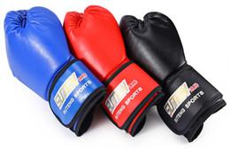 Wholesale Kickboxing Gloves - SUTEN 1 Pair PU Soft Foam Rubber Boxing Gloves Kickboxing MMA Training Fighting Sandbag for Muay Thai Kick Fighter
