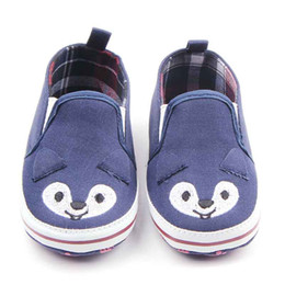 Wholesale Elastic For Sewing - New Baby Walking Shoes for Girl Boy Cute Animal Sewed with Line on Upper Elastic Slip-on Footprint on Soft Sole Infant Walking Shoes