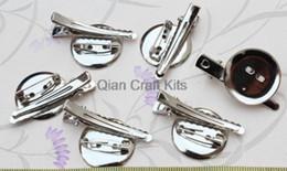Wholesale Glue Brooch - 160pcs mix size 20mm-30mm glue Brooch Pin Alligator Clip Combo Glue Pad- Alligat