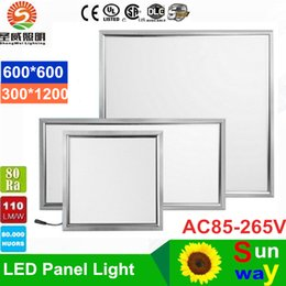 Wholesale Suspended Panel - 600X600 300X1200 led light panel Square 36W 48W High Lumens led ceiling panel light ac 85-265V + CE UL SAA Drivers
