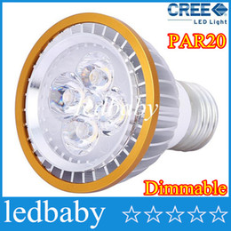 Wholesale Green Led Bulb E14 - Cheap 5 piece par20 LED Bulbs PAR20 Cree light Dimmable 9W 12W 15W Spotlight E27 GU10 E14 B22 White Warm indoor lighting 110V-240V