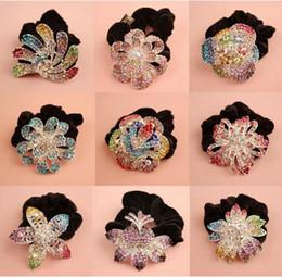 Clip de cabelo de diamante jóias on-line-Alta qualidade Cabelo Rhinestone Jóias hair headbands pageantflower grampos de cabelo senhoras faixa de cabelo diamante cabelo