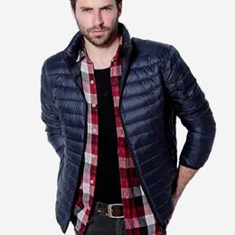 Wholesale Gray Denim Jacket Men - Fall-Winter Jacket Men Light Duck Down Jackets Warm Coats Solid Breathable Jackets Outdoors Parka chaqueta hombre Brand Coat