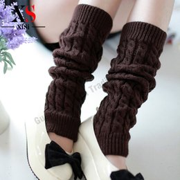Wholesale Womens Long White Socks - Wholesale-Fashion High Quality Winter Boot Socks Boot Toppers Womens Girl Leg Warmers Boot Cuffs Socks Long Leg Warmers For Women Solid