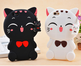 Wholesale Huawei Cat - For iPhone7 3D Cartoon Cat Soft Silicone Case For iPhone 5 5S SE 6 6S 7 Plus Samsung Galaxy J5 J7 A5 A7 2016 Grand Prime G530 Huawei P8 Lite