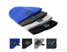 Wholesale Build Hat - Bluetooth Hats Wireless Mini Portable Knitted Caps With Stereo Headphone Built-in Microphone Mix Colors DHL Free
