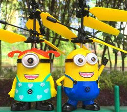 Wholesale Kids Mini Helicopters - Mini Remote Control Aircraft Toy RC Helicopter Flying Despicable Me Minion Quadcopter Drone Remote Control Aircraft Gifts For Kids 22designs