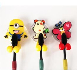 Wholesale Cups Sets - Minimum Order Quantity 20pcs, Cute minion Hello Kitty Cartoon suction cup toothbrush holder hooks bathroom set accessories Eco-Friendly