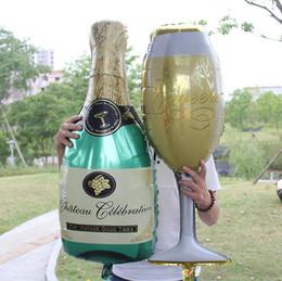 Wholesale Sun Foil - Wedding Decor Large Sun Champagne Goblet Foil Balloons Birthday Party Bachelorette Party Decor Supplies c123
