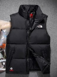 Wholesale casual mens winter vest - 2018 top quality Men Wear Thick north Winter Outdoor Heavy Coats Down VEST mens face jackets Clothes 60 S-XXL