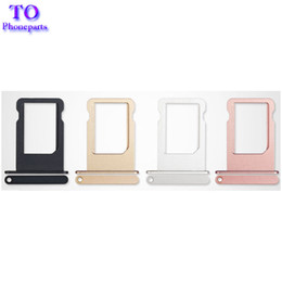 Wholesale Micro Sim Slot Replacement - For iPhone 5 5S 5C 6 6S Plus 7 Plus Micro SIM Card Holder Tray Slot Adapter Container Socket Replacement