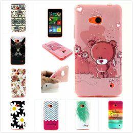 Wholesale Thinnest Lumia Phone Case - Wholesale-Owl Cat Bear Elephant Flower Soft TPU Silicone Phone Case for Microsoft Nokia Lumia 640 Ultra Thin Gel Cartoon Back Covers