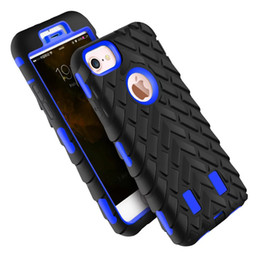 Para iphone6 ​​6 s 7 plus pneu dual layer defensor case para iphone 5 5s se tpu + plástico rígido 3 em 1 Heavy Duty Armor Híbrido Tampa Do Telefone de Fornecedores de caixa do telefone do pneu