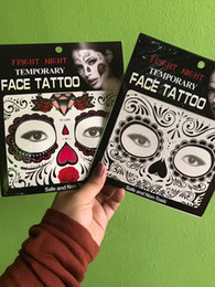 Wholesale Wholesale Sticker Sales - Hot sale fright night temporary face tattoo Body art chain transfer tattoos temporary stickers in stock 9 styles 1000pcs
