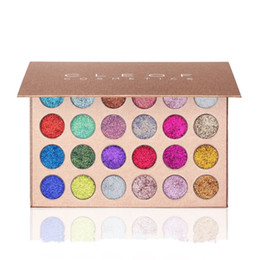Wholesale Eyeshadow 24 Colors - CLEOF Eye Shadow Cosmetics Unicorn Glitter Eyeshadow Palette 24 Colors Makeup Shimmer Eye Shadow Palette DHL free shipping