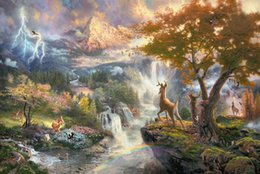 Wholesale High Quality Abstract - Thomas Kinkade Landscape Oil Painting Reproduction High Quality Giclee Print on Canvas Modern Home Art Decor TK050