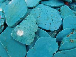 Wholesale green gemstones loose - Cabochon 18-80mm high quality turquoise gemstone Freeform slab blue green Loose bead 6pcs