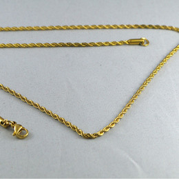 Wholesale Stainless Steel Twist Chain - KT stainless steel jewelry chain width of 2mm twist length 50cm 41cm 46cm