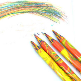Wholesale Art Crayons - Durable 2 Pieces Without Wood Colored Pencils Crayon More Drawing Area 4 in 1 Color Graffiti Drawing Art Supplies Sationery