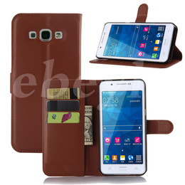 Wholesale A5 Photo Frames - For Samsung A5 2016 A7 2016 Wallet PU Leather Case Cover Pouch With Card Slot Photo Frame in Opp Package