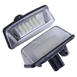 Wholesale Toyota Led License Plate Lights - 2pc X LED Bulb for Toyota Crown Reiz Vios Number Plate Light with E8 certificate no Error