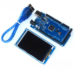 Wholesale High Voltage Power Module - Wholesale-Free shipping! 3.2 inch TFT LCD screen module Ultra HD 320X480 for Arduino + MEGA 2560 R3 Board with usb cable