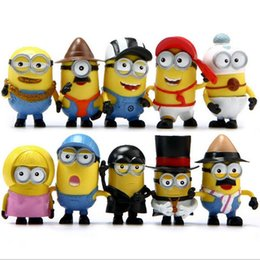 Wholesale Despicable Pvc Figures - Despicable Me 3 Minions PVC Action Figure Toys Movie Character Figures Dolls 12pcs set Cosplay Christmas Gifts Free by DHL
