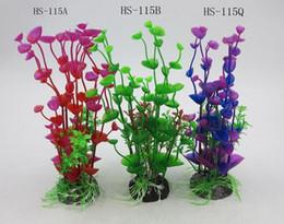 2019 piante erbose da giardino Decorazione artificiale dell'acquario della pianta acquatica del carro armato di pesce dell'erba di plastica del giardino piante erbose da giardino economici
