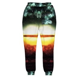 Wholesale Space Print Pants - Wholesale-2016 New Fashion 3D Galaxy Joggers Pants Printed Galaxy Space Cat Tiger Graphic Running Sportswear Sweatpants Jogging For Youth