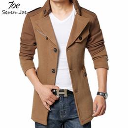 Wholesale Trench Coat Big Man - Fall-Seven Joe.New Fashion Men Trench Coat Jacket Winter Warm Outerwear Casual Men Jacket With Big Size Men Overcoat