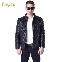 Wholesale Genuine Leather Parka - Fall-Factory Duck Down Jacket Men Winter Down Coat Genuine Sheepskin Leather Black Soft Warm Jackets Men's Down Jacket Parkas ZH075