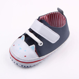 Wholesale Handmade Canvas Shoes - New Arrival Baby Unisex Sport Walking Shoes Handmade Cute Cat Design Canvas Toe Protection Anti-slip Soft Sole Dress Shoes 0-12 Months